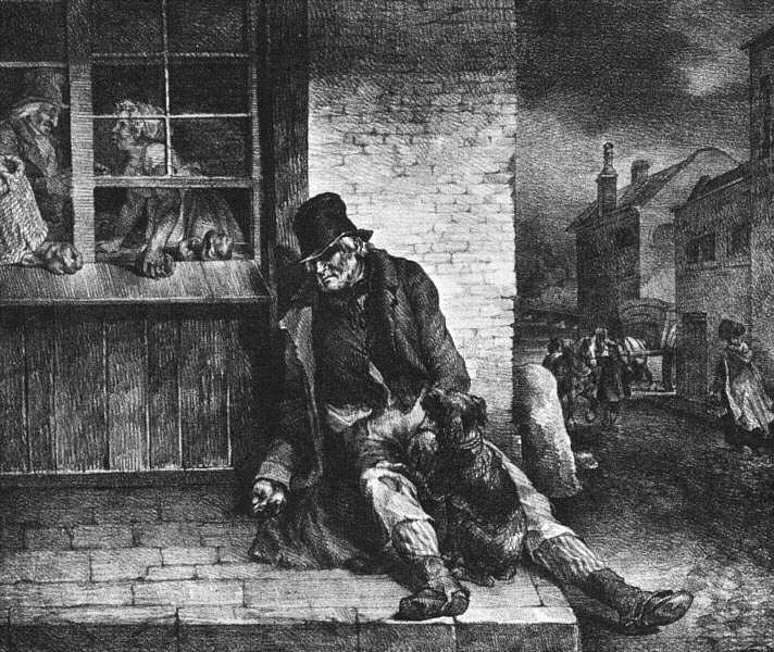 Man on the street, 1821 - Théodore Géricault