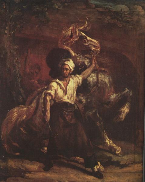 The Blacksmith's Signboard, 1814 - Теодор Жерико