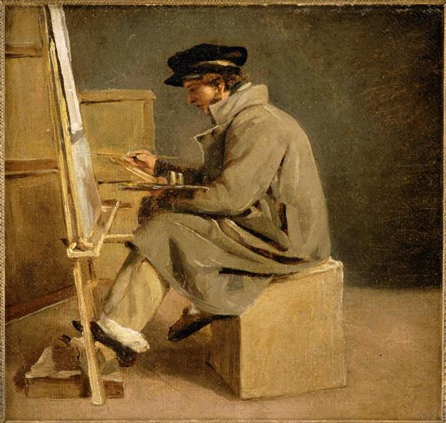 Young painter at his easel - Théodore Géricault
