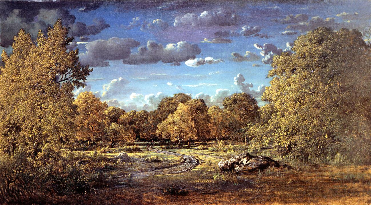 Glade of the Reine Blanche in the Fontainebleau Forest ... Theodore Rousseau