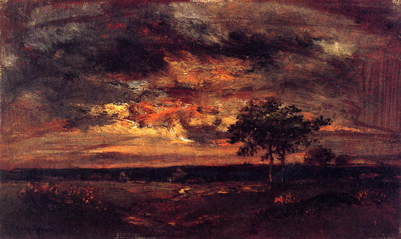 Twilight Landscape - Theodore Rousseau - WikiArt.org ... Theodore Rousseau
