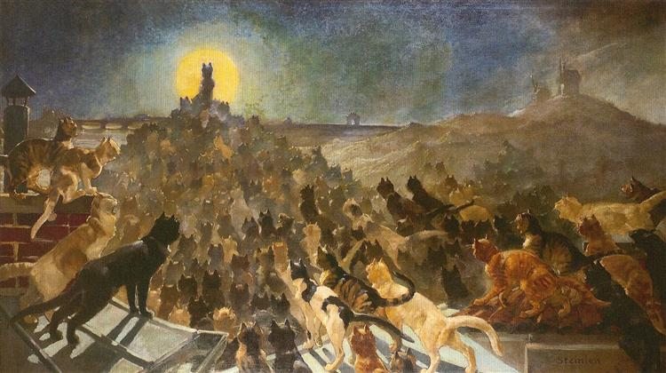 Apotheosis of Cats, 1890 - Theophile Steinlen