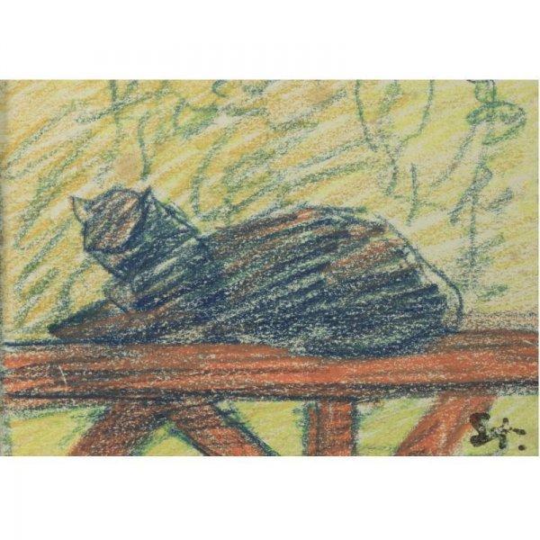 Blue Cat - Theophile Steinlen