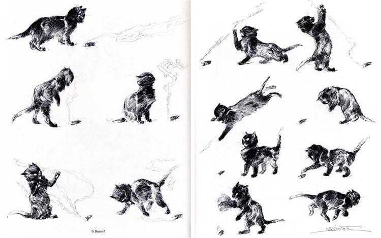 Cat It Burns, 1898 - Theophile Steinlen