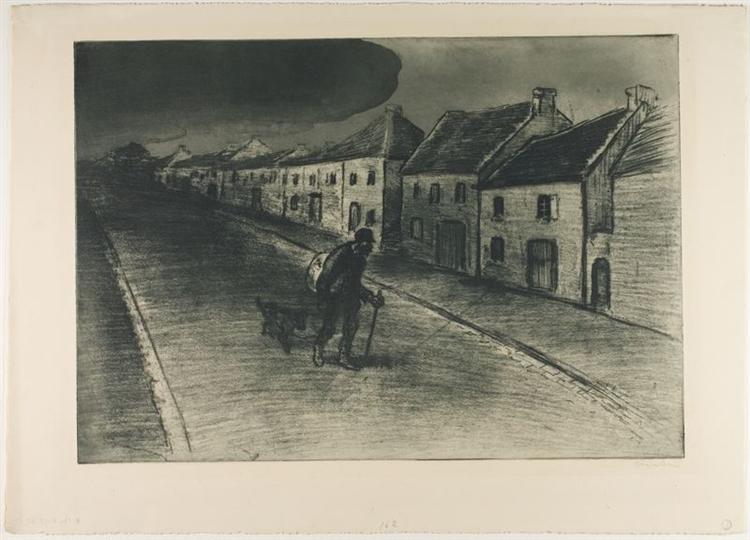 Chemineau Traversant Un Village Endormi, 1902 - Theophile Steinlen