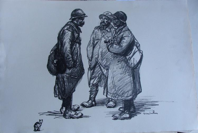 Conciliabule, 1916 - Théophile-Alexandre Steinlen