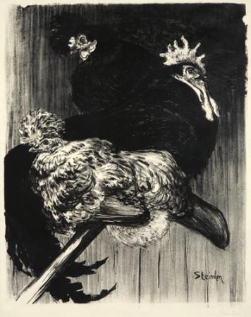 Coq et Poules, 1896 - Theophile Steinlen