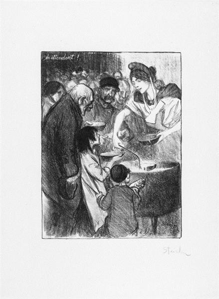 En Attendant, 1895 - Theophile Steinlen
