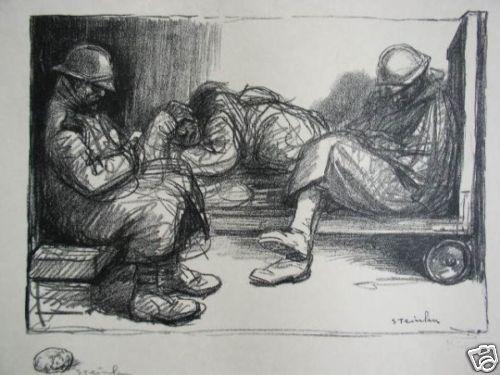 En Attendant Le Depart, 1916 - Theophile Steinlen