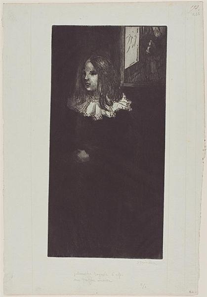 Fillette Au Col Blanc, 1898 - Theophile Steinlen