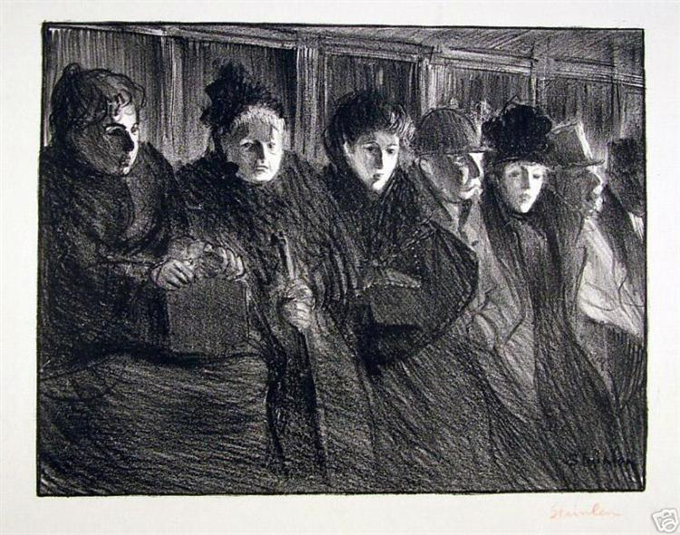 Interieur tramway - Théophile Alexandre Steinlen