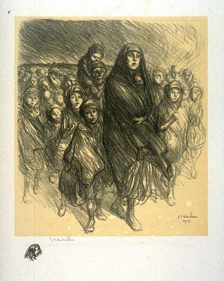 L'Exode Belge, 1916 - Théophile Alexandre Steinlen