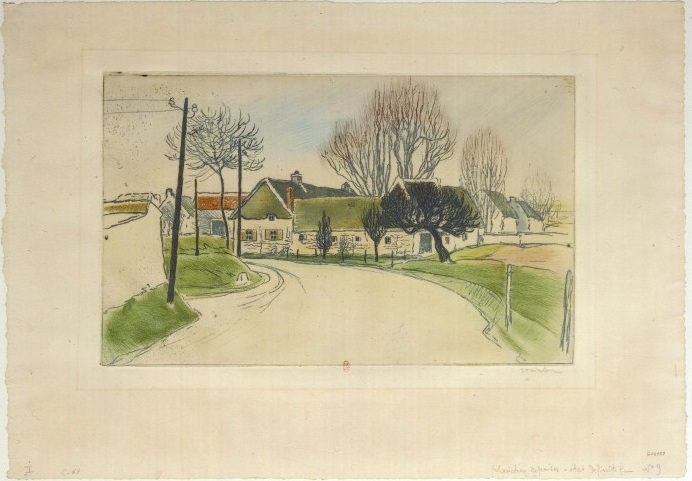 La Maison A L'Entree Du Village, 1902 - Théophile Alexandre Steinlen
