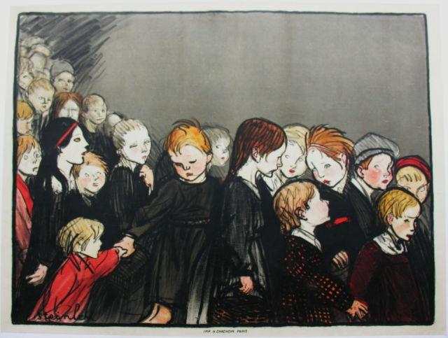 La Maternelle, 1920 - Theophile Steinlen