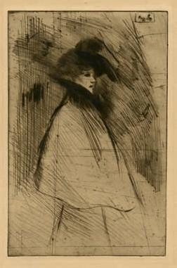 La Promeneuse, 1898 - Theophile Steinlen