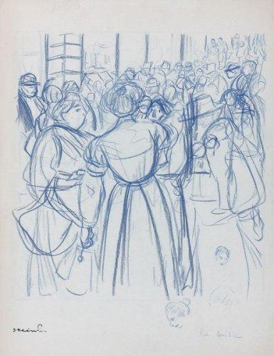 La Saisie - Theophile Steinlen