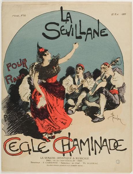 La Sevillane, 1889 - Theophile Steinlen