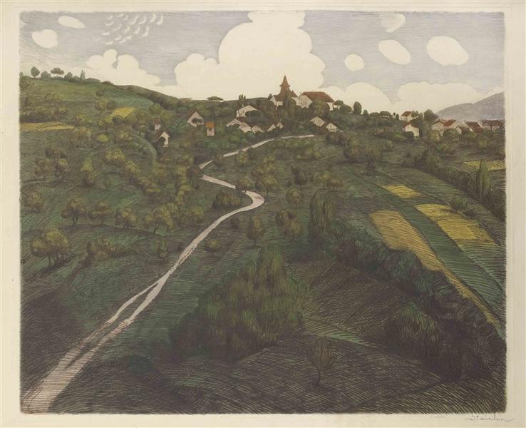 Landscape of Belmont, near Lausanne, 1916 - Théophile Alexandre Steinlen