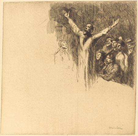 Le Prophete, 1902 - Theophile Steinlen