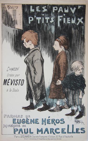 Les Pauv- Petits Fieux, 1892 - Théophile-Alexandre Steinlen