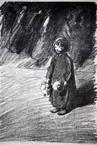 Little Flower Girl - Theophile Steinlen