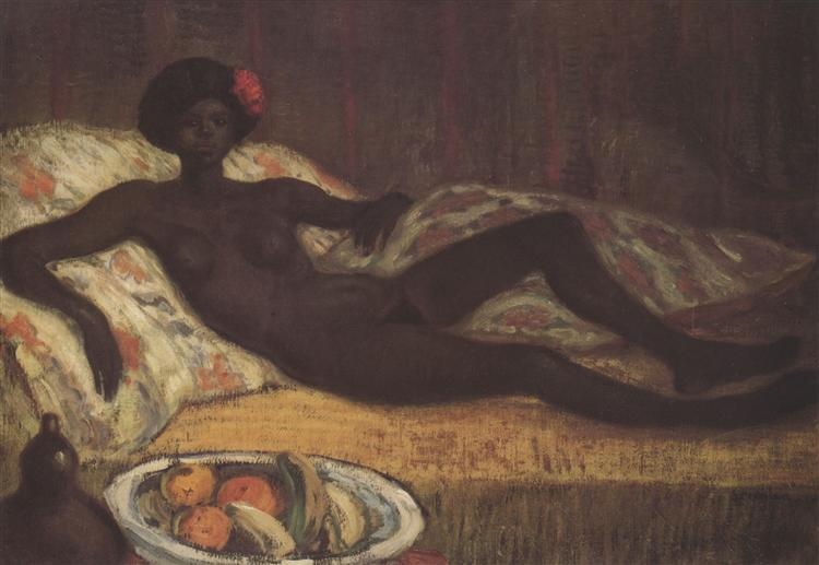 Massaida on the Divan, 1912 - Theophile Steinlen