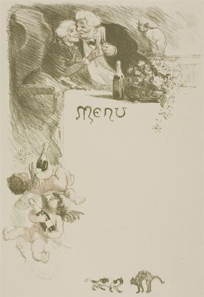 Menu Henriot, 1901 - Theophile Steinlen