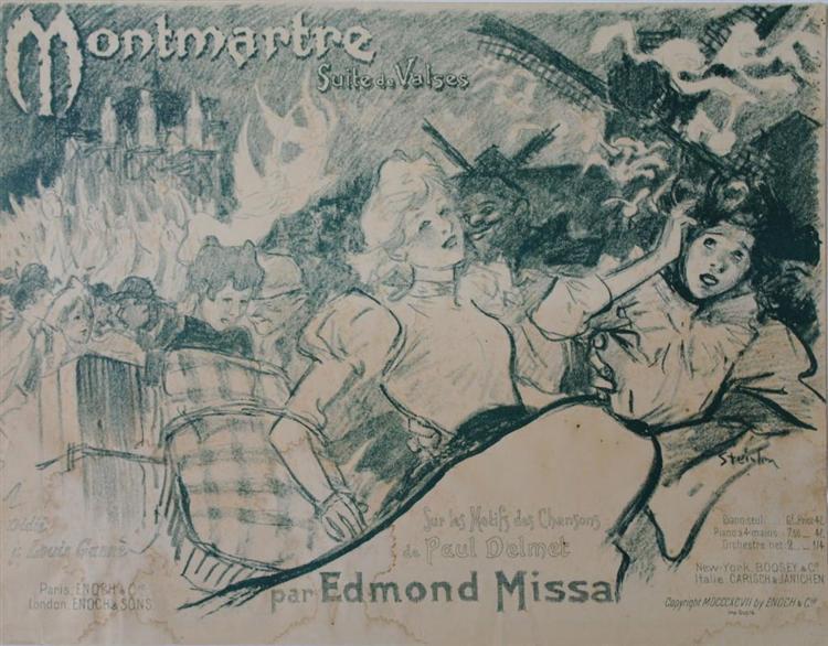 Montmartre, 1897 - Theophile Steinlen