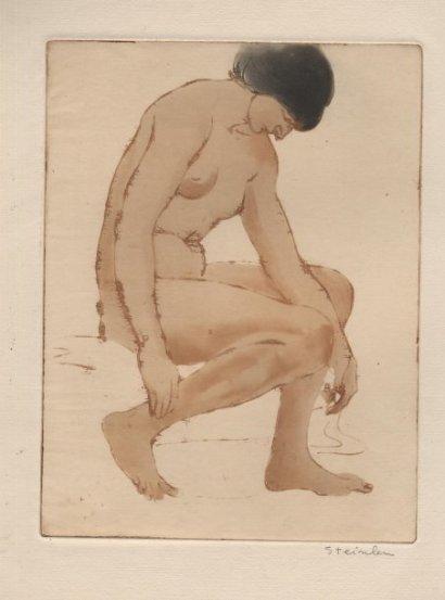 Nude, 1902 - Theophile Steinlen