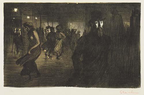 Paris La Nuit, 1903 - Theophile Steinlen