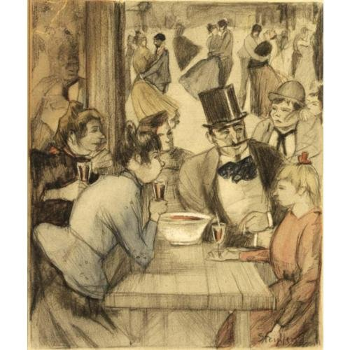 People at the Cafe - Theophile Steinlen