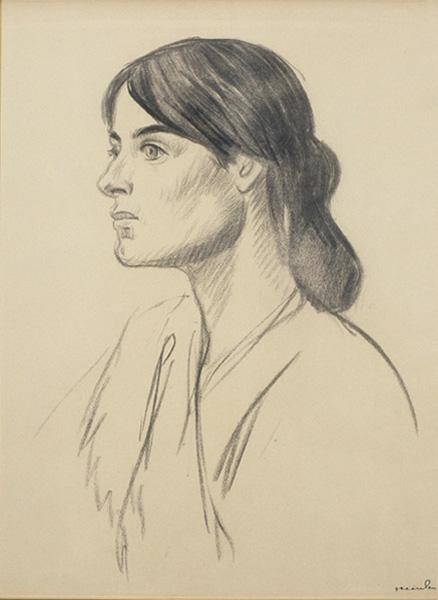 Portrait drawing of Suzanne Valadon - Theophile Steinlen