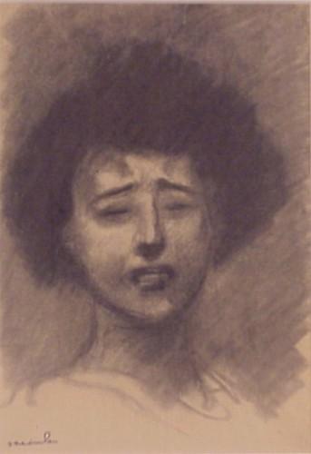 Sad woman - Theophile Steinlen