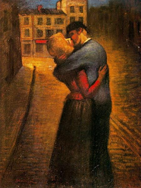 The Kiss, 1895 - Theophile Steinlen