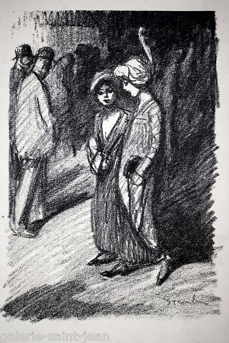 Two Women - Theophile Steinlen