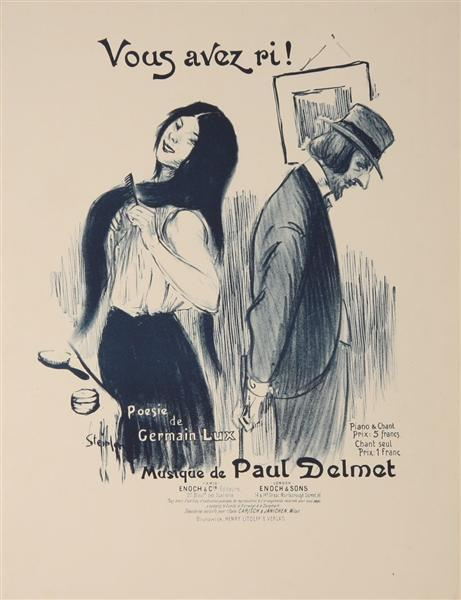 Vous Avez Ri, 1899 - Theophile Steinlen