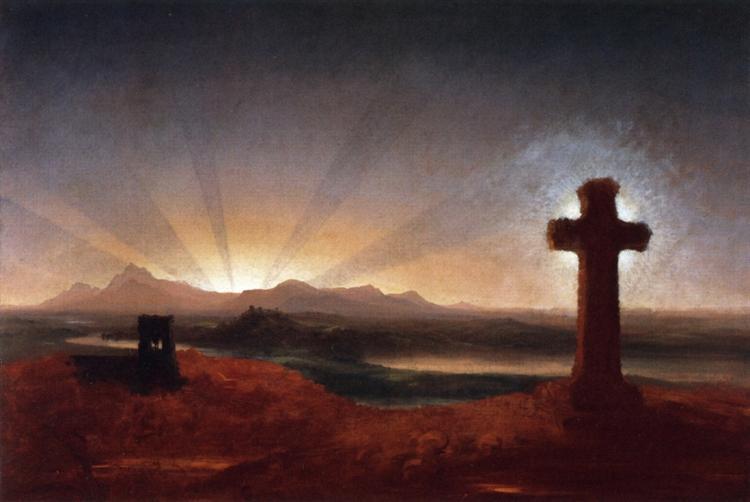 Cross at Sunset, 1848 - Thomas Cole