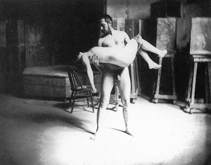 Thomas Eakins carrying a woman - Thomas Eakins