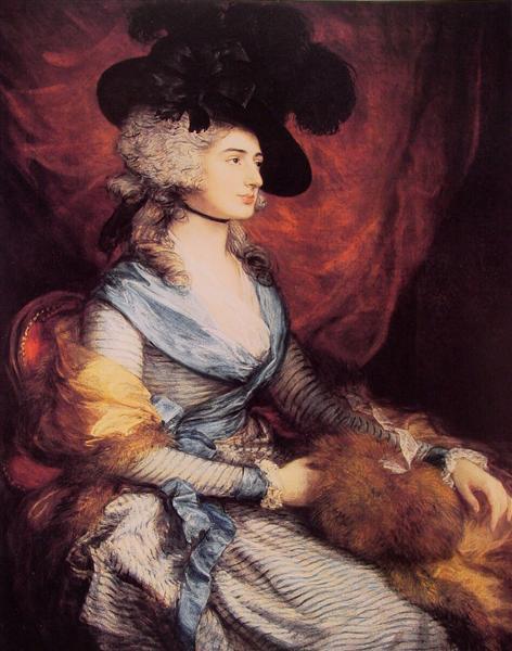 Mrs. Sarah Siddons, the actress, 1785 - Thomas Gainsborough