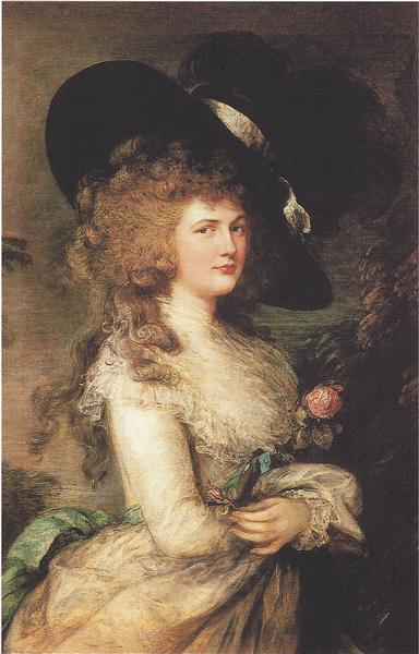 Portrait of Georgiana, Duchess of Devonshire - Thomas Gainsborough