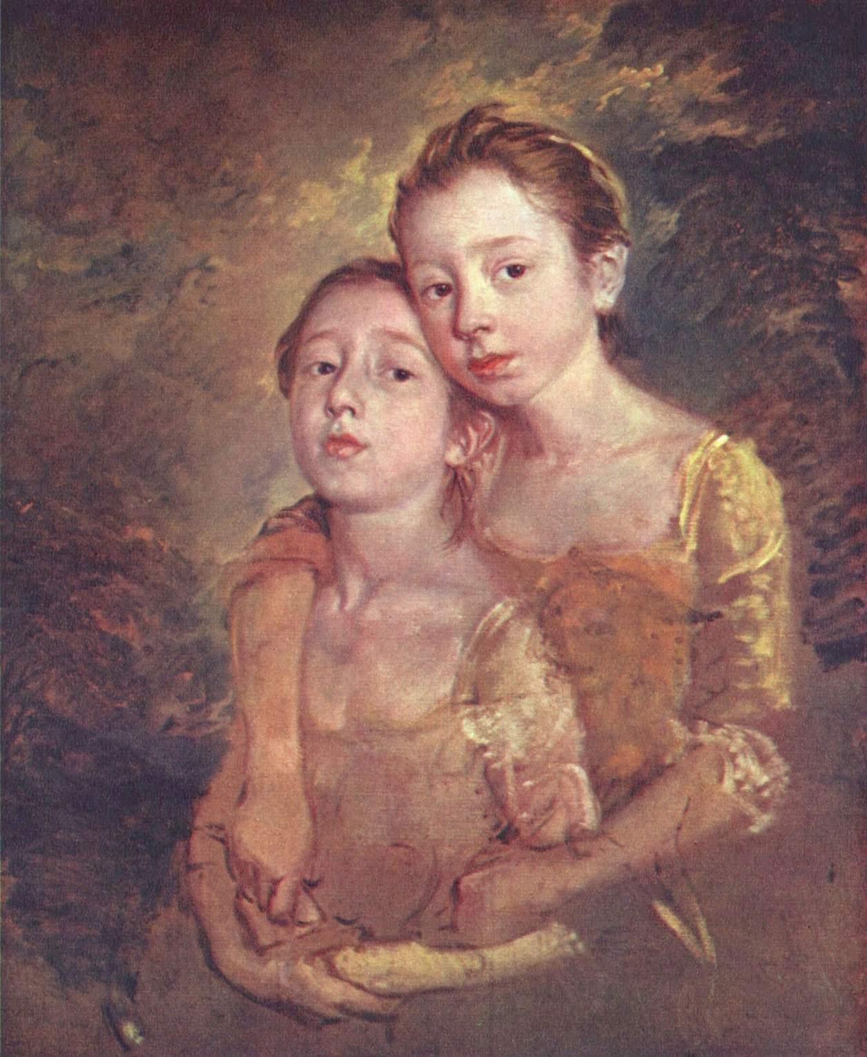 peintres anglais du XVIIIème siècle Portrait-of-the-artist-s-daughter-with-a-cat