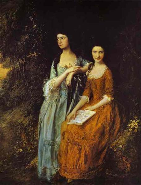 The Linley Sisters (Mrs. Sheridan and Mrs. Tickell), 1772 - Thomas Gainsborough