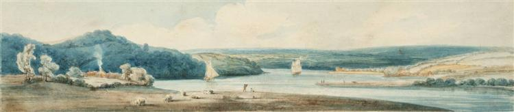 A Winding Estuary, 1798 - Thomas Girtin