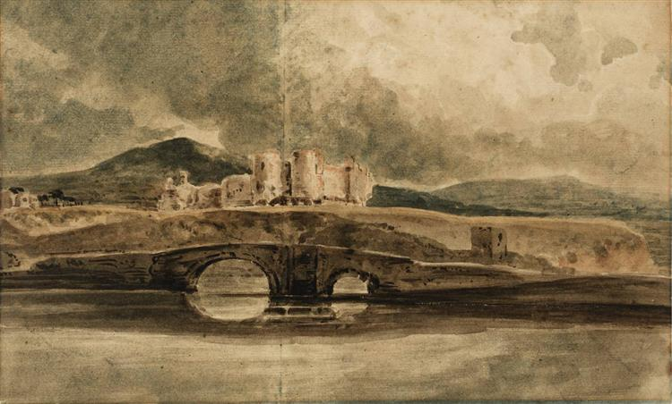 Rhyddlan Castle and Bridge, 1799 - Thomas Girtin