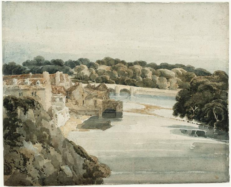 The River Tweed near Kelso, 1800 - Thomas Girtin