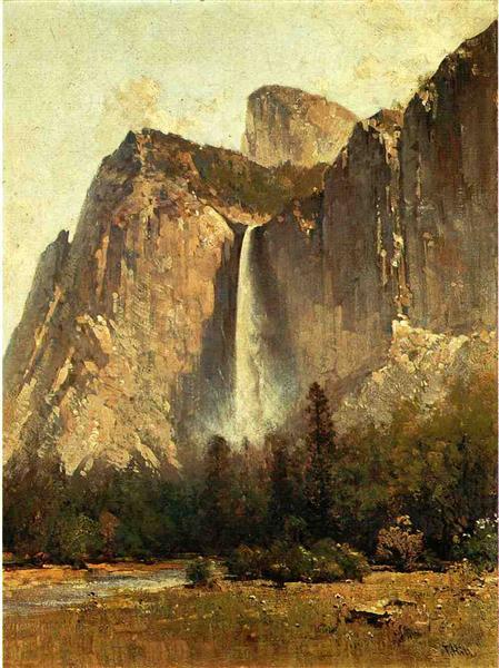 Bridal Veil Falls - Yosemite Valley - Thomas Hill