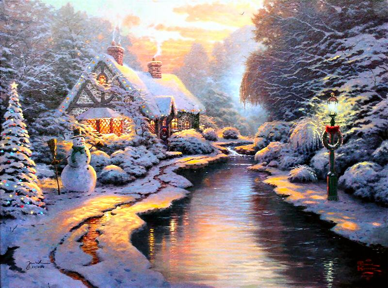 Christmas Evening, 2005 - Thomas Kinkade - WikiArt.org