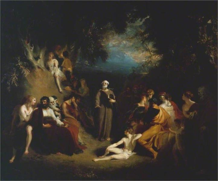 Homer Reciting his Poems - Thomas Lawrence