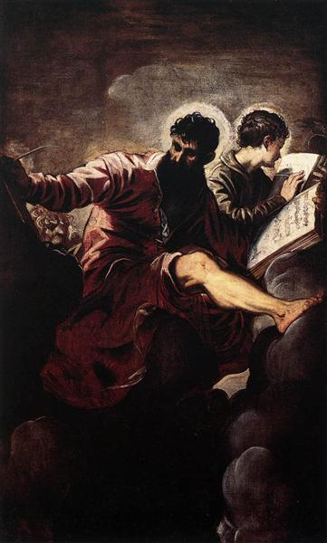 The Evangelists Mark and John, 1557 - Tintoretto