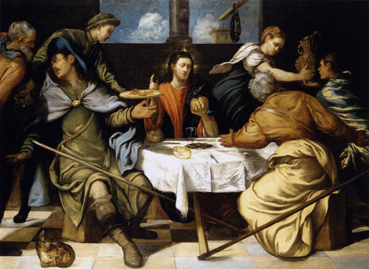 The Supper at Emmaus, 1542 - 1543 - Tintoretto